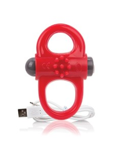 The screaming O Charged yoga vibe ring rood