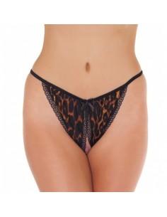 Amorable Open tanga leopard