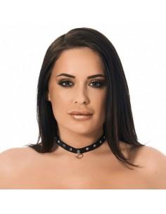 Rimba Halsband 1.5 cm breed versierd met studs