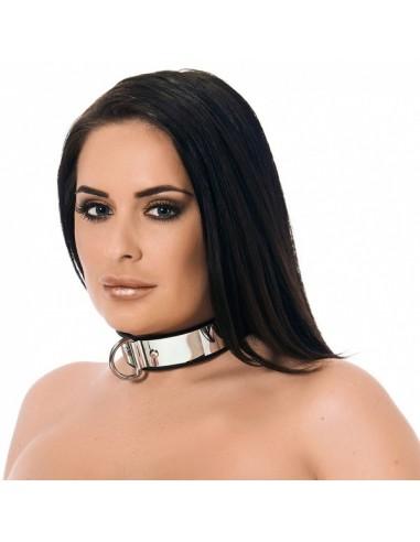 Rimba Leren halsband met metaal en hangslot
