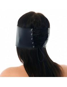 Rimba Oogmasker met vetersluiting zwart