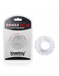 Lovetoy Powerplus Flexibele cockring transparant