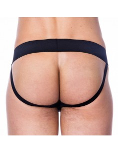 Rimba Leren jockstrap met breed elastiek XL