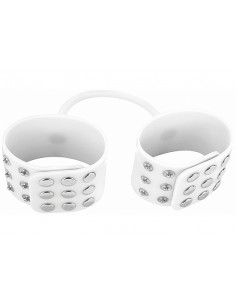 Ouch Silicone cuffs white