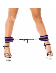 Rimba Soft bondage voetboeien met spreidstang paars