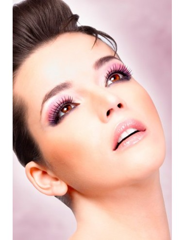 Baci Lingerie Deluxe eyelashes with a touch of purple