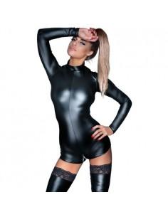 Noir handmade Body met lange mouwen en ritsen M