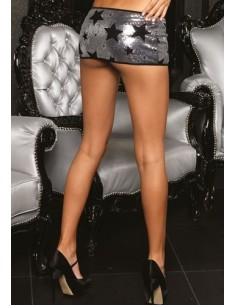 Leg Avenue Skirt silver black stars M/L