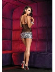 Leg Avenue Sequin sheer Mini Dress M1