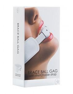 Ouch Brace ball gag White