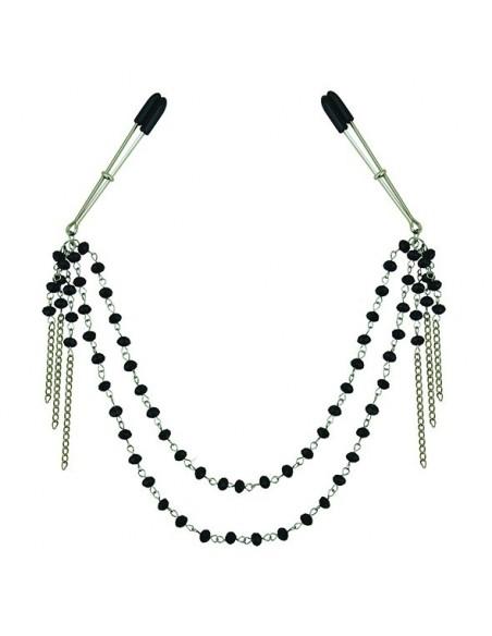 Sportsheets Midnight black jeweled nipple clips