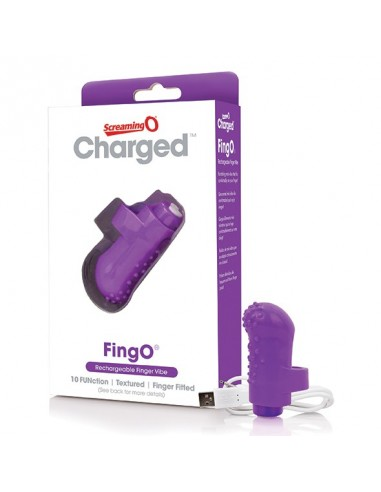 The Screaming O Charged Fingo vinger vibe purple