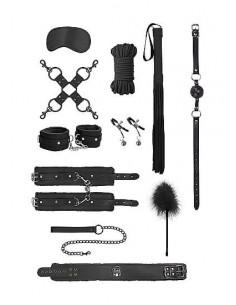 Ouch Deluxe Intermediate bondage kit black