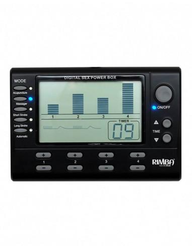 Rimba 4 kanaals electro seks power box set met LCD display