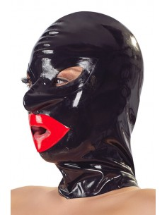 The latex collection Bondage mask with lips