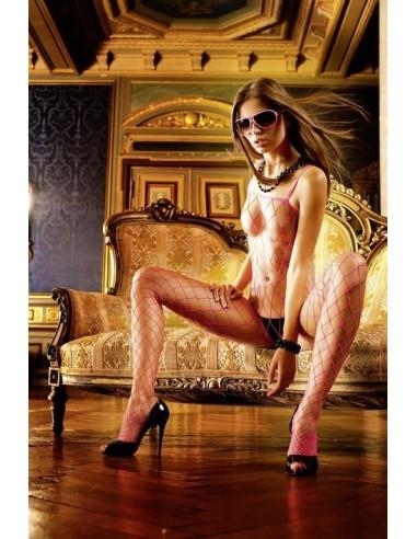 Baci Lingerie Roze net-bodystocking