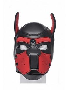 Master Series Neoprene puppy hood Black and Red