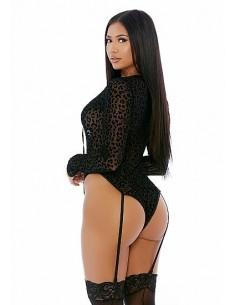 Forplay Feline lustful long sleeve teddy black M