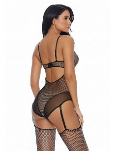 Forplay Caught in the feels teddy with garter straps black XL