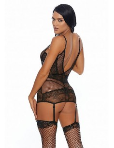 Forplay Caught you looking chemise set black S
