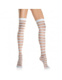 Leg Avenue Sheer and Opaque striped tight high