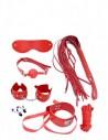 MAI Pleasure Toys No. 75 7 delige bondage starters kit Red