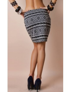 Skirt with Black / White motif