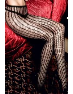 Baci Lingerie Jacquard pantyhose black