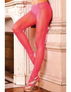 Baci Lingerie Pink fishnet pantyhose