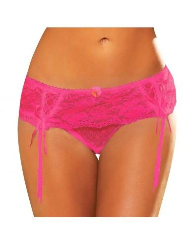 Hustler Lingerie Lace Garter Thong