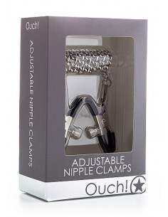 Ouch Adjustable nipple clamps silver